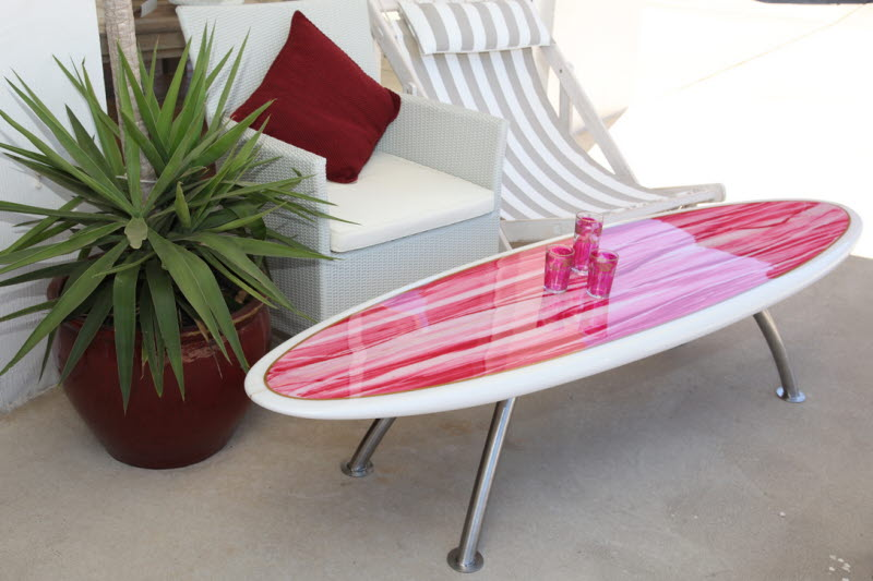 PinkRetroSurfboardTableTinker